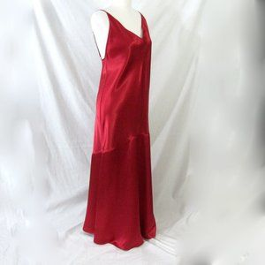 Victorias Secret Red Long Silky Nightgown